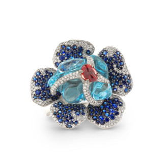 Blue Rafflesia Ring