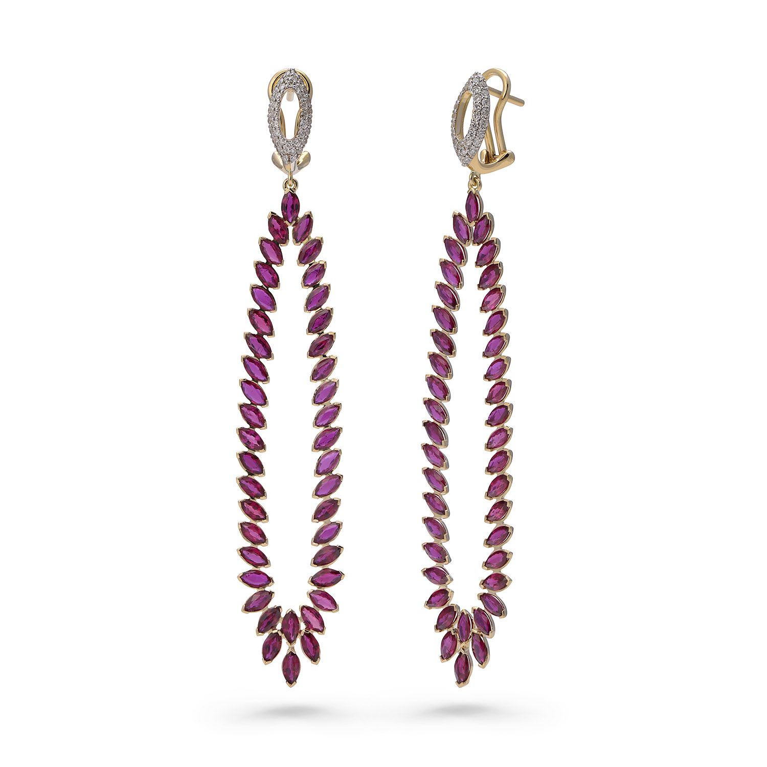 Fortune Flame Earrings (Radiant Rose)